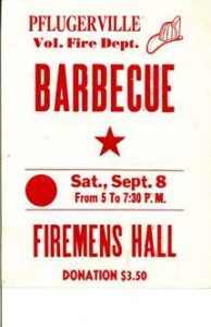 BBQ poster fire department history